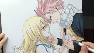 getlinkyoutube.com-Speed Drawing - Lucy and Natsu (Fairy Tail)