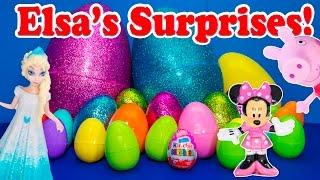 getlinkyoutube.com-FROZEN Disney Frozen Elsa Surprise Eggs with Shopkins Season 3 & Peppa Pig Surprise Eggs Video