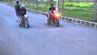 getlinkyoutube.com-Ninja 150 RR VS Suzuki Satria 125 cc BY CCMS