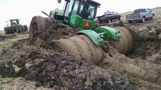 getlinkyoutube.com-Tractor stuck in mud compilation 2015, NEW