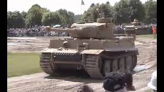 Tiger  Panzer III and Leopard Tanks Together.