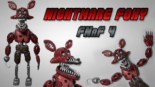 getlinkyoutube.com-FNaF 4 | Nightmare Foxy Posable Clay Tutorial | Plastilina - Articulado
