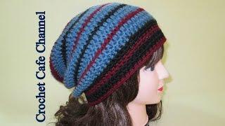 getlinkyoutube.com-كروشيه طاقية طويلة- متهدلة Slouchy #كروشيه_كافيه# Crochet Cafe