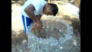 getlinkyoutube.com-Basureros de botellas plásticas