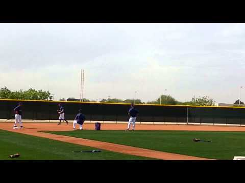 Adam Rosales Lesson with Coaches: Spring Training 2014