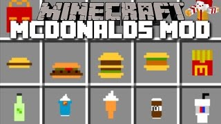 Minecraft MCDONALDS MOD / MCFOOD AND FAST FOOD MAYHEM COOKING!! Minecraft