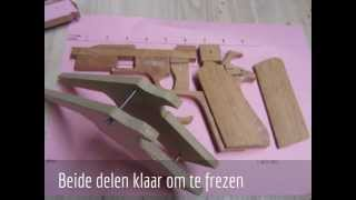 getlinkyoutube.com-Rubber blowback wooden gun part 2  NOT FOR SALE