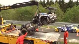 VLN - Unfall BMW Z4 (3. Lauf 2014)