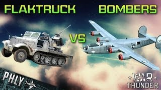 getlinkyoutube.com-War Thunder Tanks Flak Vs HUGE Bomber FORMATION - War Thunder Ground Forces Gameplay