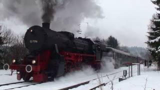getlinkyoutube.com-Fantastic Steam Show With 52 7596 Dampflok Sonderfahrt Steam Train Movie