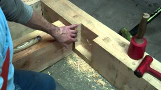 getlinkyoutube.com-Trees To Timber Frame Cabin Off-grid Homestead Project Floor Joist
