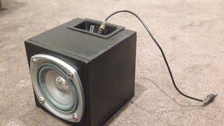 getlinkyoutube.com-How To Make A Mini Subwoofer Box Part 2 (bluetooth)