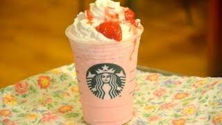 getlinkyoutube.com-How to Make a Starbucks Strawberries & Crème Frappuccino สตาร์บัค สตรอเบอร์รี่แอนด์ครีม แฟรบปูชิโน่