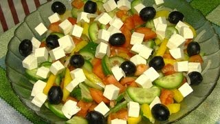 getlinkyoutube.com-Греческий салат. Рецепт греческого салата классического.