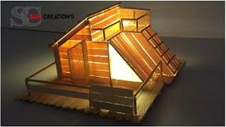 getlinkyoutube.com-MODEL MAKING OF POPSICLE STICKS HOUSE