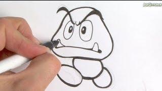 getlinkyoutube.com-Let's Draw Goomba