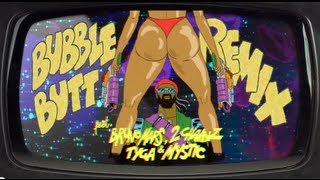 getlinkyoutube.com-Bubble Butt Remix (feat. Bruno Mars, 2 Chainz, Tyga & Mystic) - OFFICIAL LYRIC VIDEO HQ