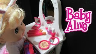 BABY ALIVE Sophie loves her NEW My Life As Vanity +Accessories Unboxing + Play!