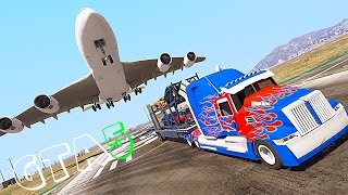 getlinkyoutube.com-Grand Theft Auto V Mods - Western Star Optimus Prime Transformers 4 - GTA 5 TRANSFORMERS MOD