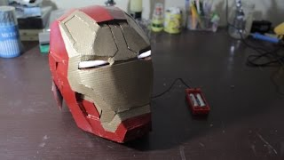 getlinkyoutube.com-DIY Cardboard Iron Man Helmet with LED eyes