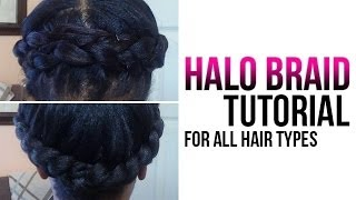 getlinkyoutube.com-Halo Braid Tutorial | How to Crown Braid Your Own Hair