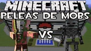 getlinkyoutube.com-Minecraft: Peleas de Mobs - Wither Skeleton Vs Zombie Pigman (PELEA 100 Vs 100)
