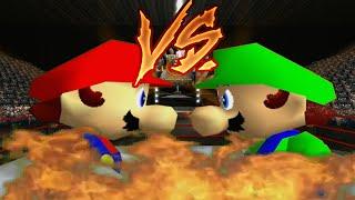 getlinkyoutube.com-Supah Star Rap Battles of EPICNESS: Mario VS Luigi.