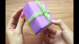 getlinkyoutube.com-Caja de papel/cartulina etc FÁCIL