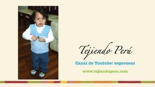 getlinkyoutube.com-Chaleco para niños  tejido en dos agujas o palitos
