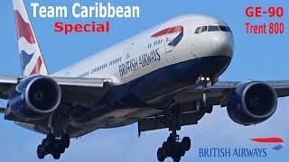 getlinkyoutube.com-British Airways 777-200 RR Trent 800 - GE-90, Team Caribbean Special !!!