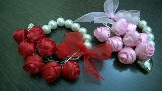 getlinkyoutube.com-D.I.Y. Satin Rose Friendship Day Bracelet | MyInDulzens