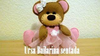 getlinkyoutube.com-Ursa Bailarina Sentada em Feltro