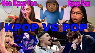 KPOP Vs POP 2017 REACTION (BTS, Justin Bieber, EXO, Nick Minaji) width=