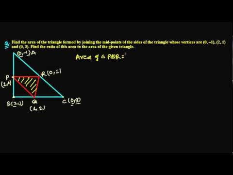 Area of Triangle in Coordinate Geometry Showing in Ratios Question