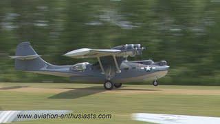 2015 Warbirds Over The Beach Air Show PBY-5A Catalina flight (Saturday)
