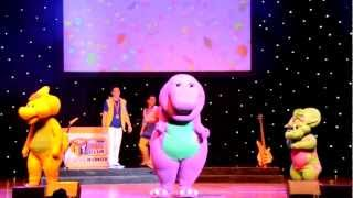"getlinkyoutube.com-Barney performing ""Having Fun Song"" and the Top 5 songs."