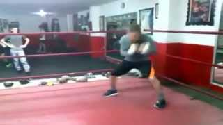 getlinkyoutube.com-Julio Cesar Chavez Sr at 52 Years training for his upcoming exhibition Bout