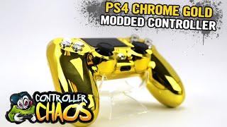 getlinkyoutube.com-PS4 Chrome Gold - Custom Controllers - Controller Chaos