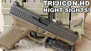 getlinkyoutube.com-Trijicon HD Night Sights! Gold Standard for Glocks