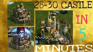 getlinkyoutube.com-CLASH OF KINGS 28-29-30 CASTLE IN 5 MINS!!!