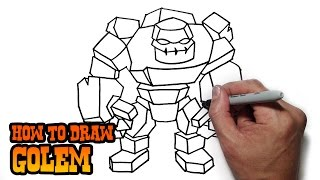 getlinkyoutube.com-How to Draw Golem- Clash of Clans Video Tutorial