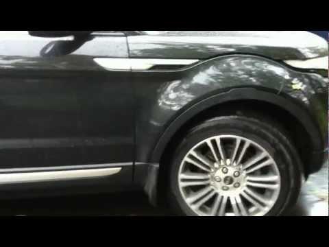 Повороты рулевой рейки на EVOQUE на паркинге