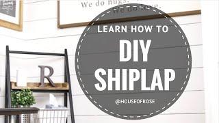 getlinkyoutube.com-DIY SHIPLAP  |  WHITE WOOD WALL  |  STEP BY STEP TUTORIAL