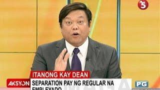 Itanong kay Dean   Separation pay ng regular na empleyado