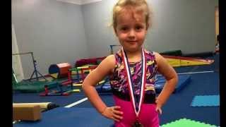 getlinkyoutube.com-Первая медаль Гимнастика для детей в 4 года