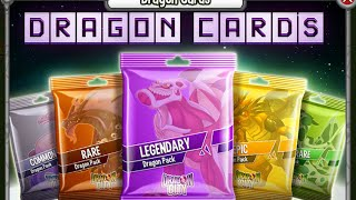 Dragon City novidades: Dragon Card Packs