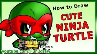 getlinkyoutube.com-Learn to Draw a Ninja Turtle - Art Lessons Fun2draw Drawing Tutorial