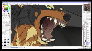 Don't piss off your King - Wolf Speedpaint [Paint Tool Sai]