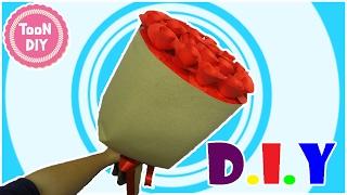 ช่อดอกกุหลาบกระดาษ ช่อดอกไม้ ของขวัญวันวาเลนไทน์ EP2  Paper Rose Topiary-rose ball--TooNDIY