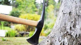 getlinkyoutube.com-Geschmiedete Axt aus altem Hammer   Forging  Axe  Tomahawk